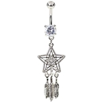 Star Dream Catcher Belly Button Ring image