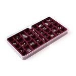 36 Compartment Jewelry Box - Burgundy image