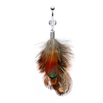 Vintage Feather Belly Ring image