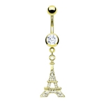 Eiffel Tower Belly Button Ring image