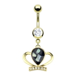 Princess Crown Belly Button Ring image