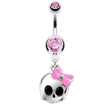 Cute Skull Belly Button Ring image