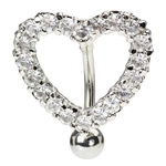 Heart Shield Belly Button Ring image