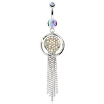 Elegant Round Chandelier Belly Ring image