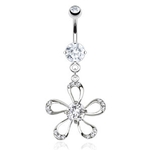 Summer Flower Belly Button Ring image