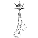 Reverse Badge & Handcuffs Belly Ring image