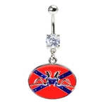 Confederate Mudflap Girls Belly Ring image