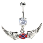 Winged Rebel Belly Button Ring image