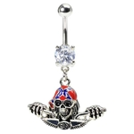 Confederacy Biker Belly Button Ring image