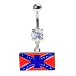 Rebel Flag Southern Cross Belly Ring image
