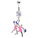 Cheeleaders & Pom Poms Belly Ring image