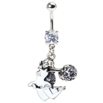 C Jump Cheerleading Belly Button Ring image