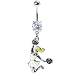 Jumping Cheerleader Belly Button Ring image