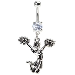 Tuck Jump Cheerleader Belly Ring image