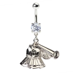 Cheerleader Uniform Belly Button Ring image