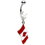Canadian Flag Belly Ring image