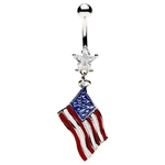 American Flag Belly Button Ring image