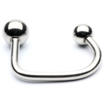Lippy Loop Horeshoe Barbell with Steel Balls image