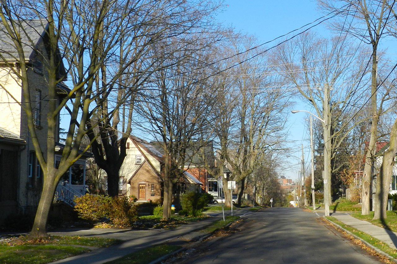 Surrounding side streets of uptown Waterloo