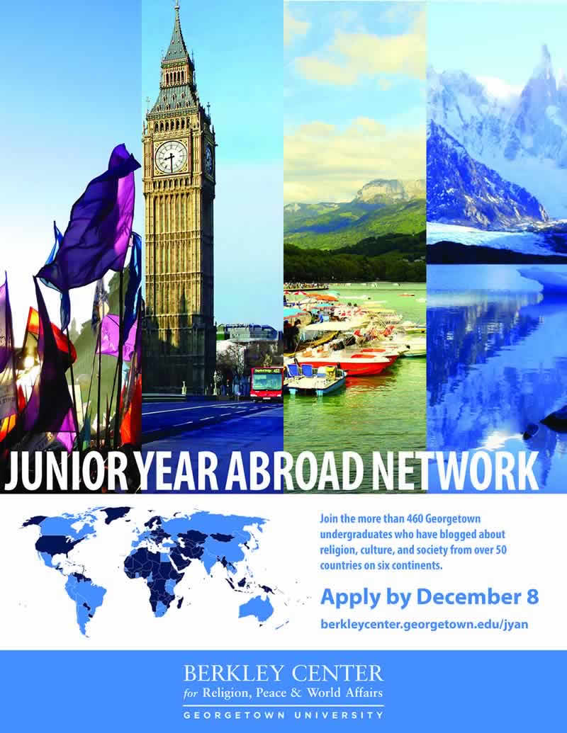 Junior Year Abroad Network Spring 2018 Poster