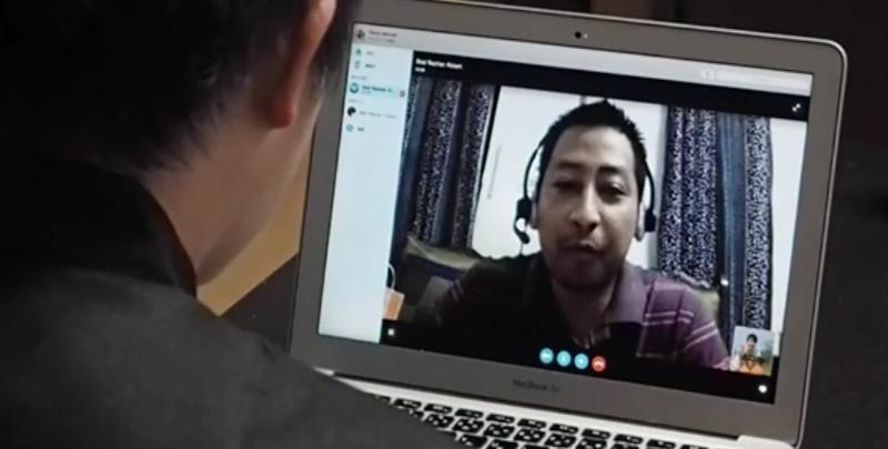 Skypeレッスン光景