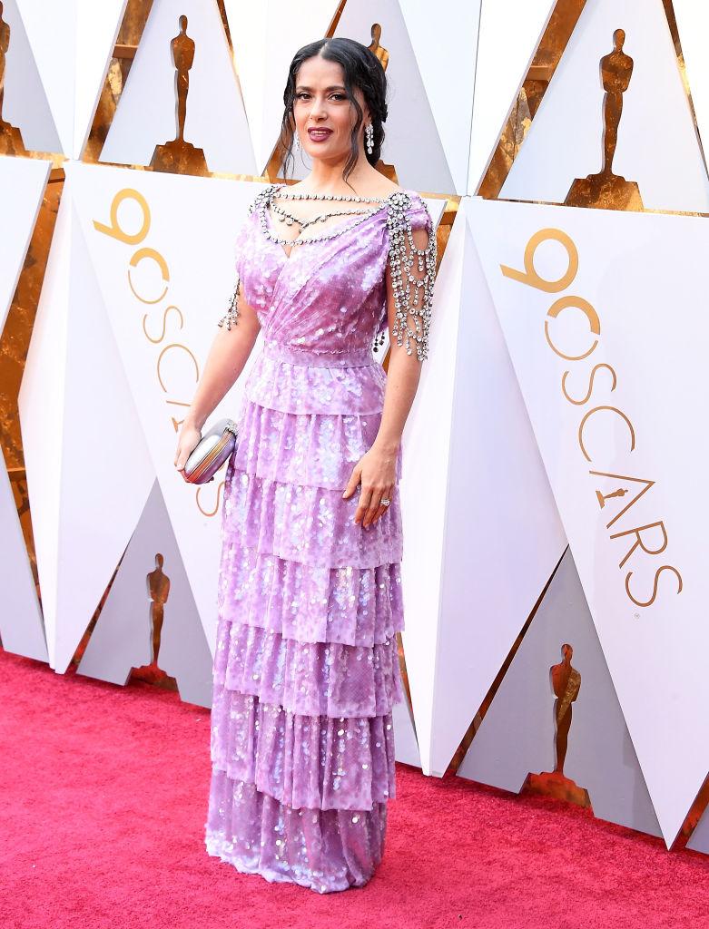 Oscars 2018 Fashion Salma Hayek
