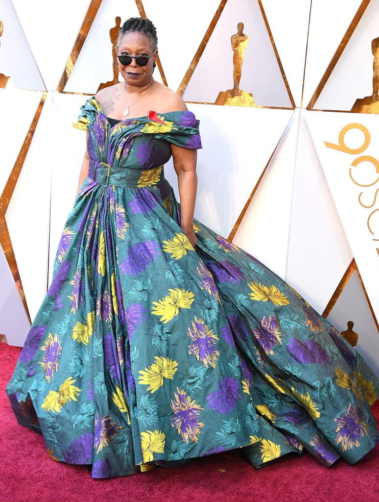 Whoopi Goldberg 2018 Oscars Fashion