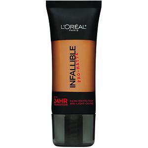 l'oreal paris infallible pro-matte foundation, best sweatproof drugstore makeup