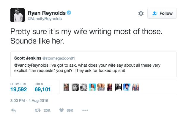 Ryan Reynolds Tweet 3