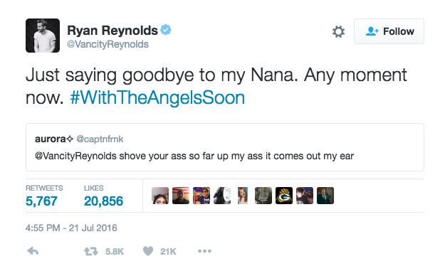 Ryan Reynolds Tweet 6