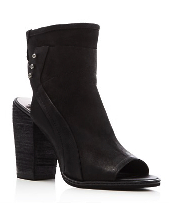 Dolce Vita open toe zip-up booties