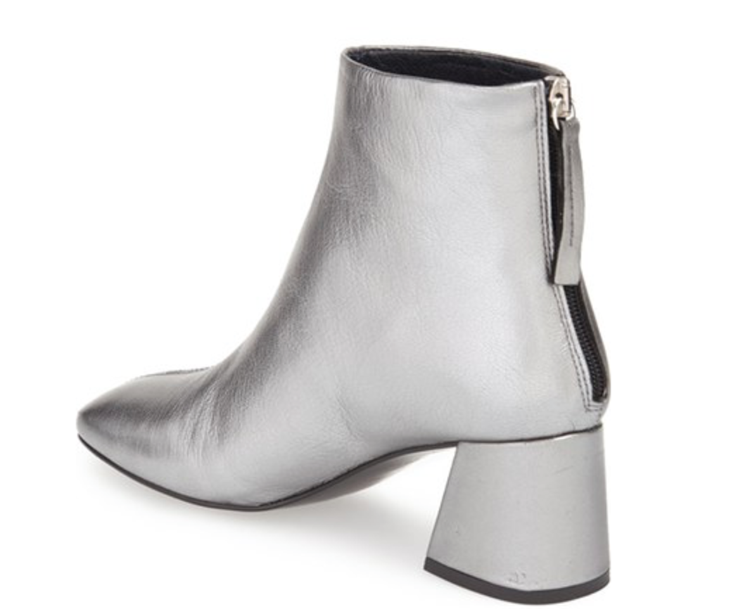 Topshop metallic booties