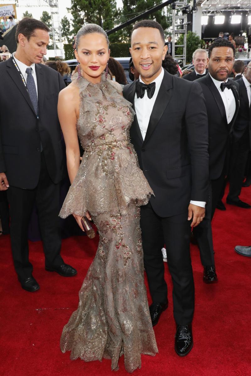 Chrissy Teigen & John Legend Golden Globes