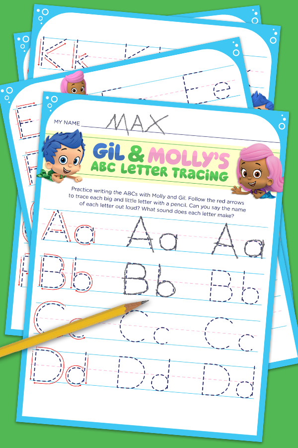 Gil & Molly's ABC Letter Tracing