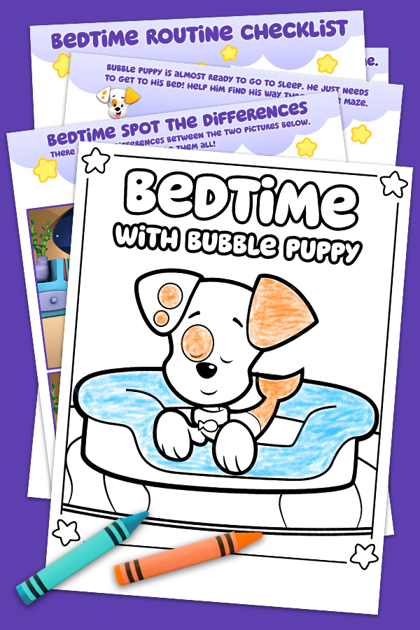 Bedtime With Bubble Puppy