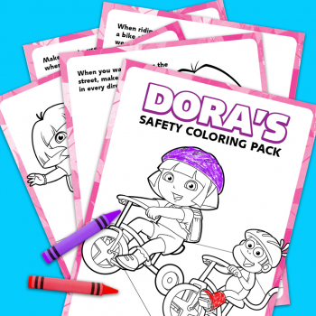 Dora's Safety Coloring Pack