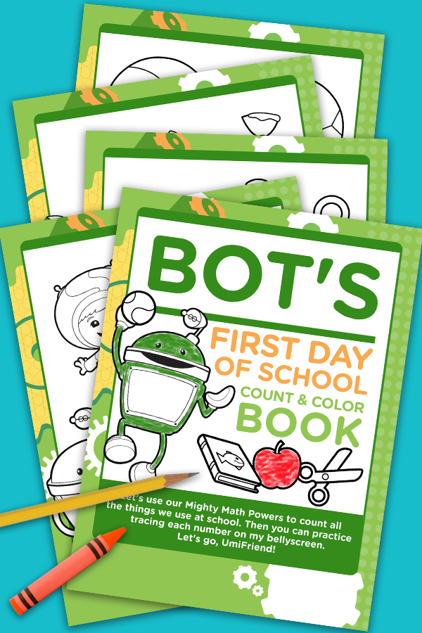 Bot's First Day of School Count & Color Book