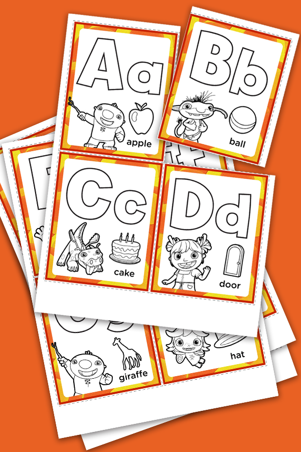 Wallykazam Alphabet Cards