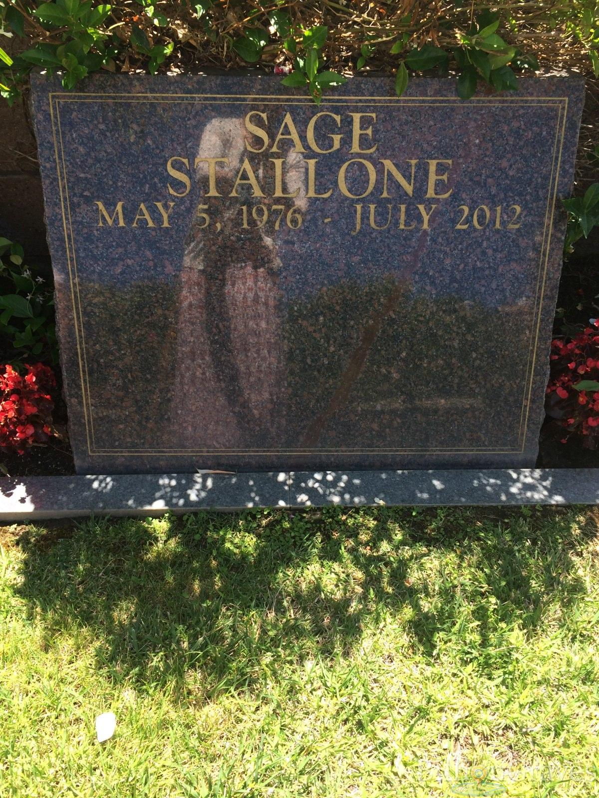 Grave Site Of Sage Stallone   Billiongraves