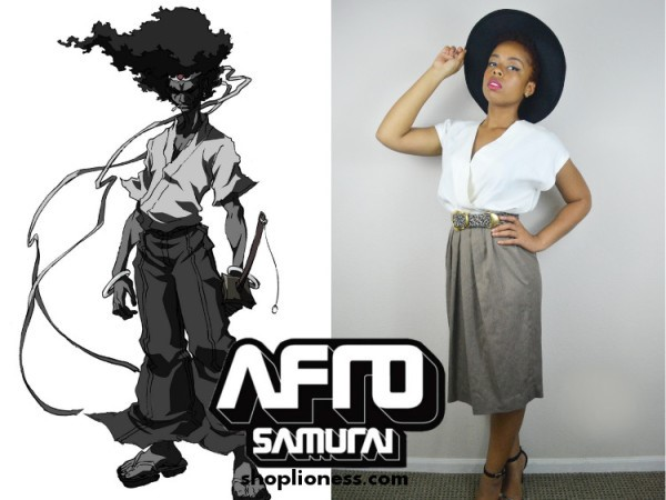 A picture of me channeling Afro Samurai