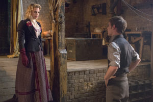 Billie Piper as Lily and Harry Treadaway as Dr. Victor Frankenstein in Penny Dreadful (season 2, episode 7): Jonathan Hession/SHOWTIME