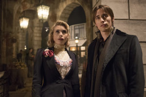 Billie Piper as Lily and Reeve Carney as Dorian Gray in Penny Dreadful (season 2, episode 7): Jonathan Hession/SHOWTIME