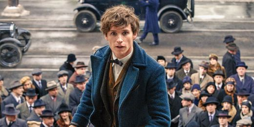 Worst wizard ever Newt Scamander in a sea of white people