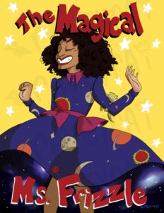 Illustration of Tracee Ellis Ross as the iconic science teacher Ms. Frizzle.