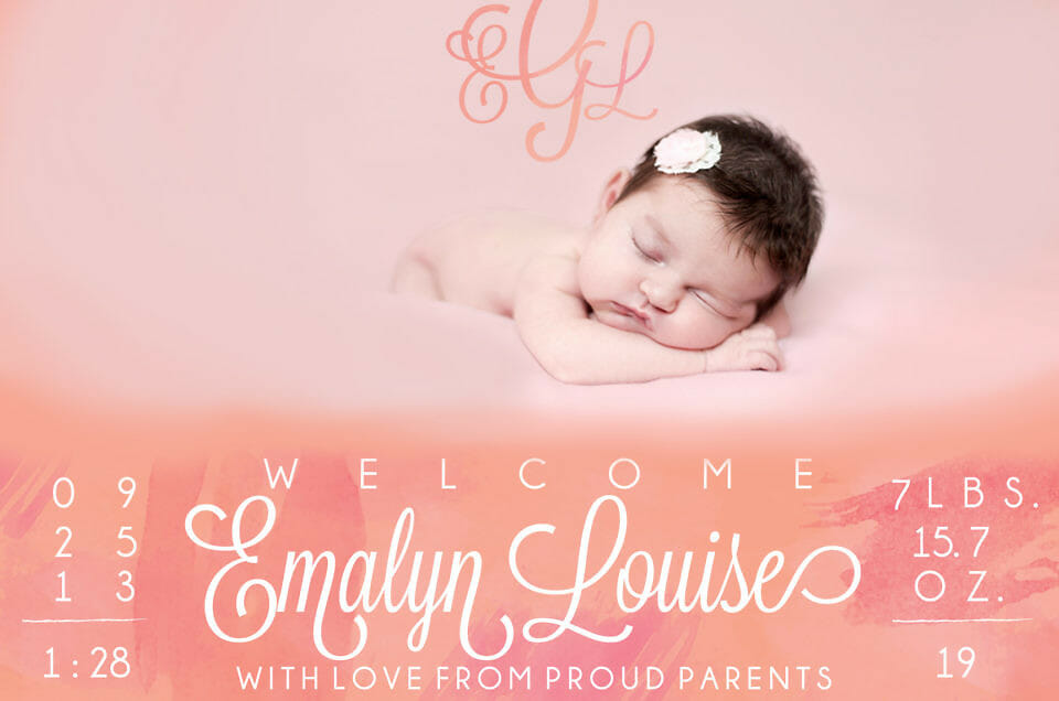 My Bundle of Baby Goodness has Arrived! Meet Sweet little Emalyn Louise!