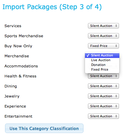 Buddy - Import Packages - Categories