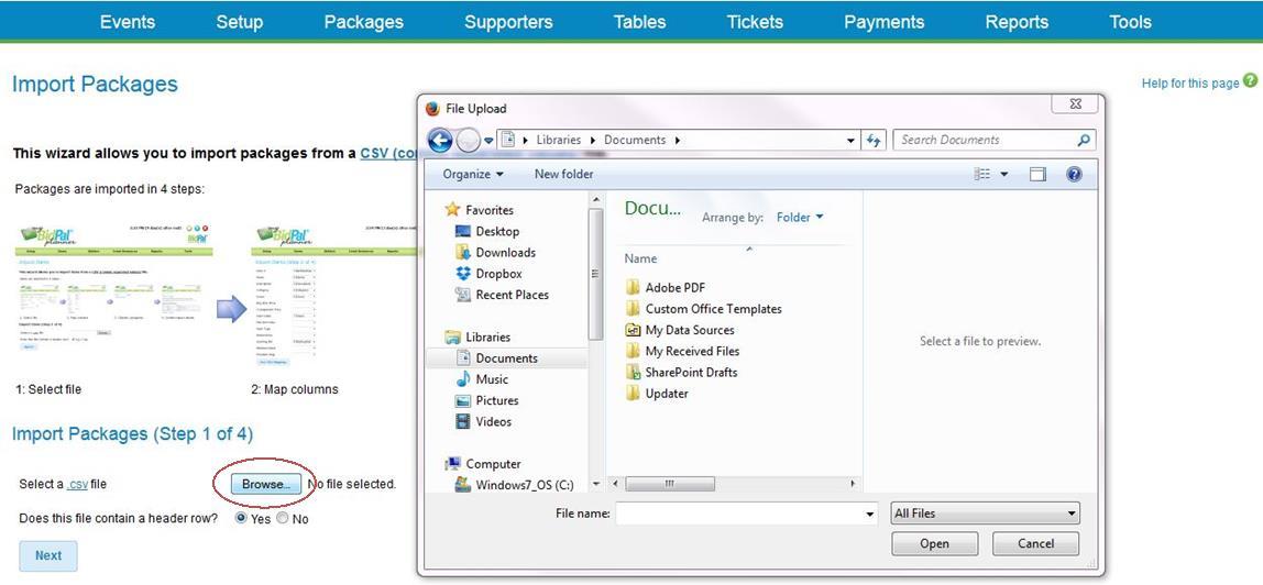 PkgBrowseScreenshot