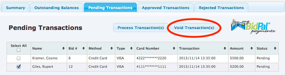 Buddy - Void Transactions