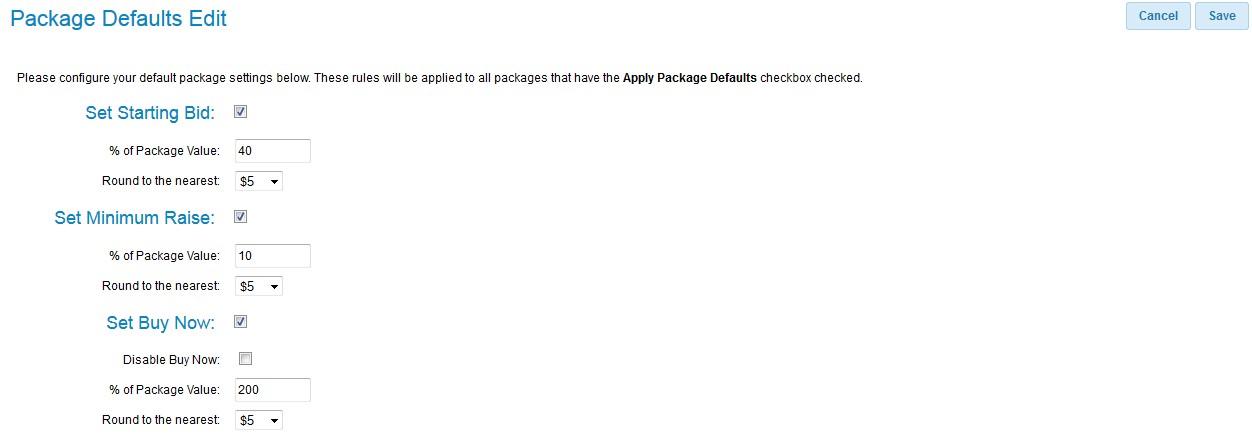 PackageDefaultsPage