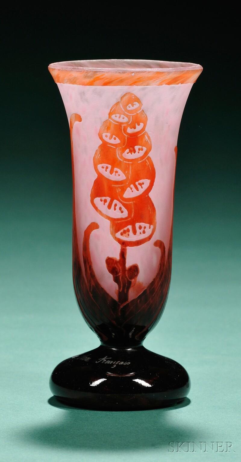 Art deco charder le verre francais glass vase bidsquare - Deco grand vase en verre ...